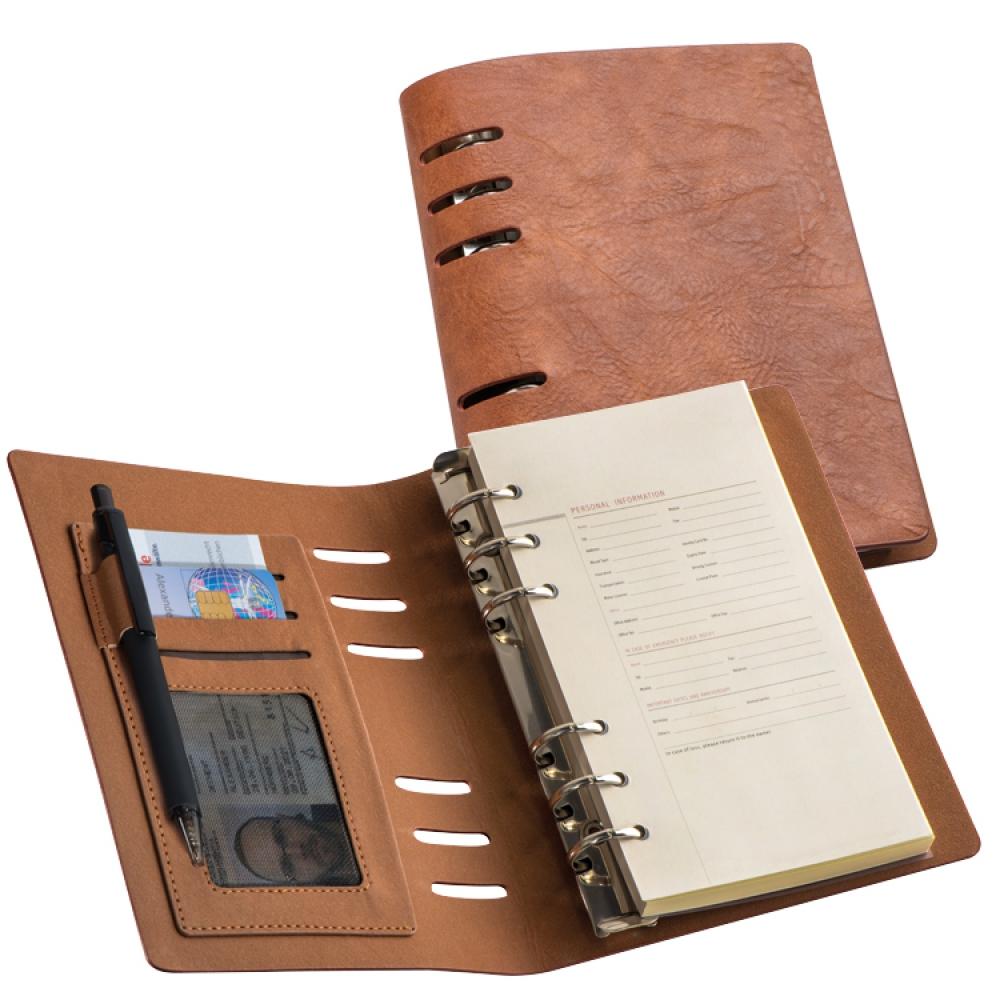 Teczka konferencyjna A6 z segregatorem i notatnikiem