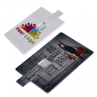 Card-shaped USB with slider puzzle