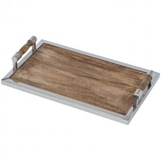 Drewniana taca prostokątna
