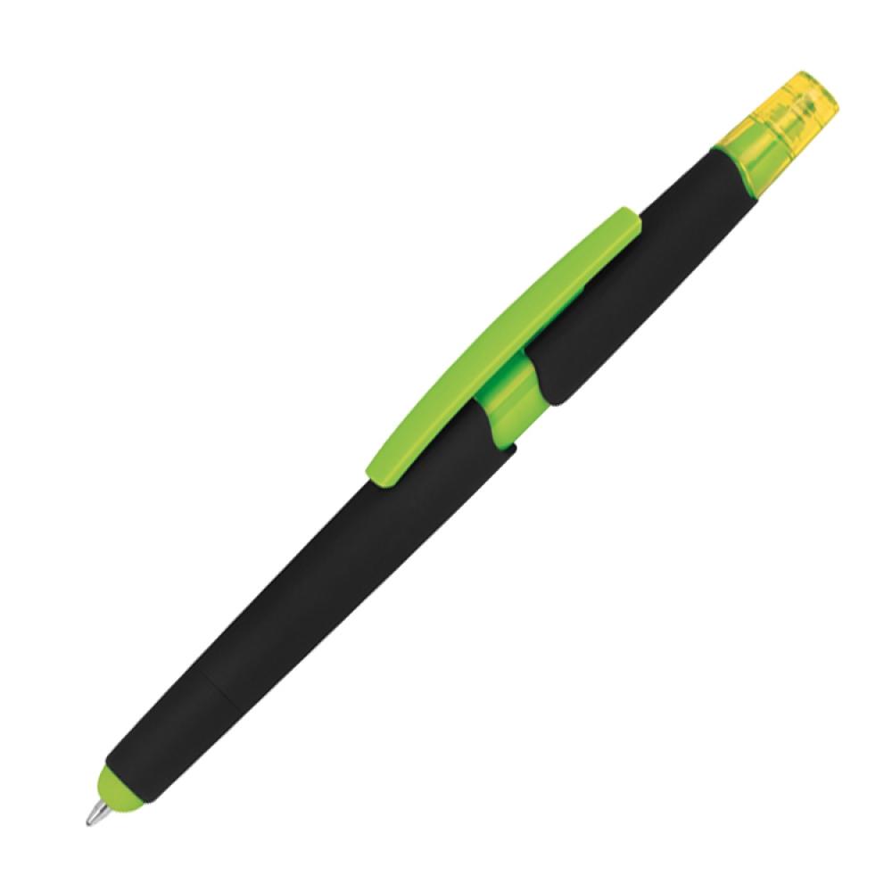 Długopis plastikowy do ekranów dotykowych z zakreślaczem