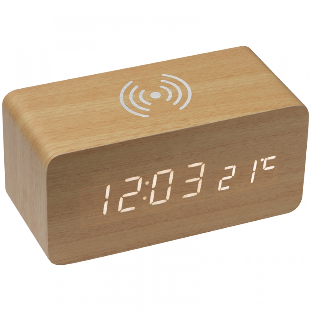 Zegar biurkowy z ładowarką indukcyjną