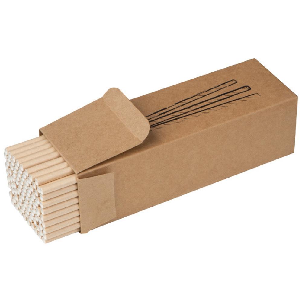 Zestaw 100 słomek z papieru