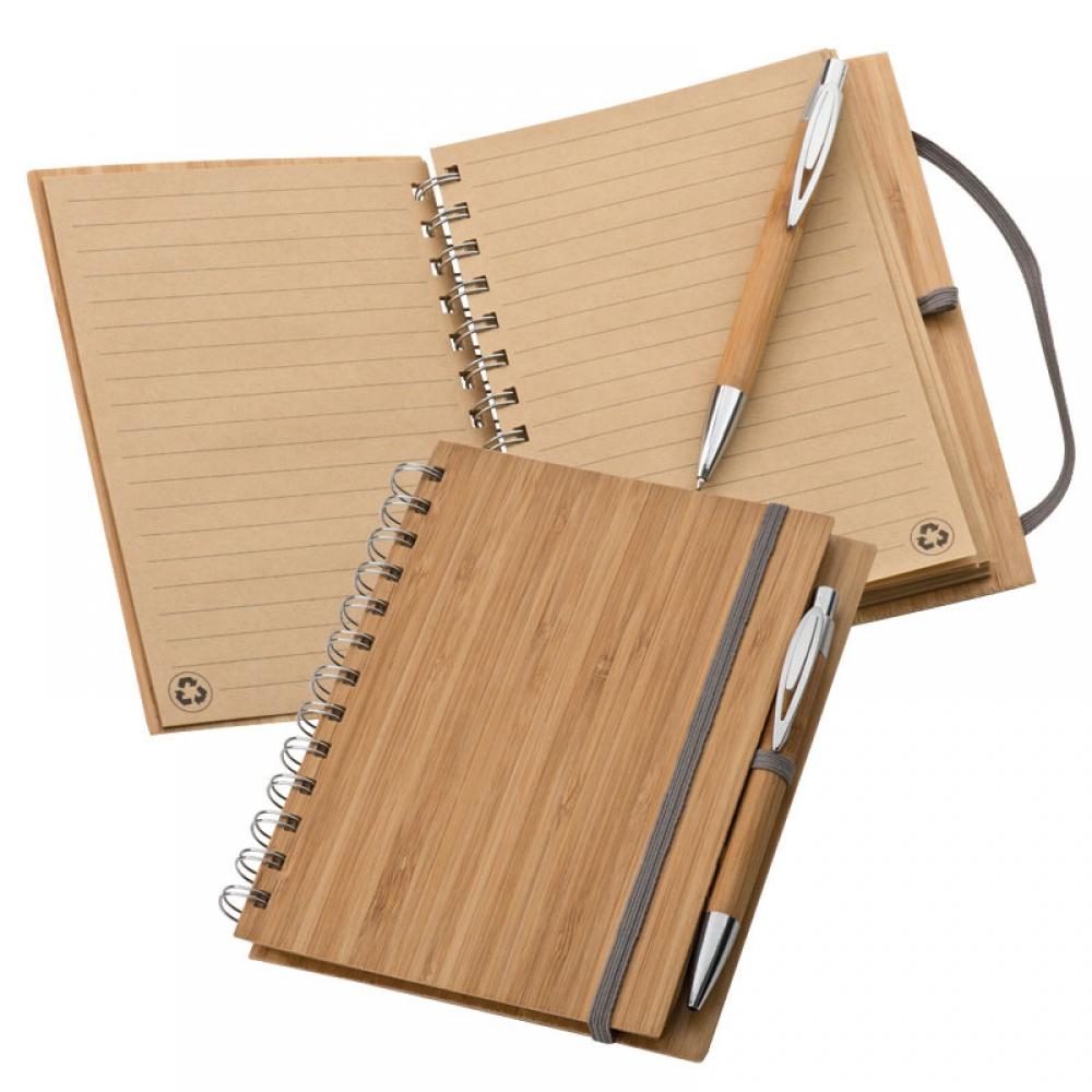 Notatnik A5 z bambusową okładką