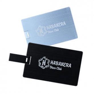 Metal card-shaped USB stick
