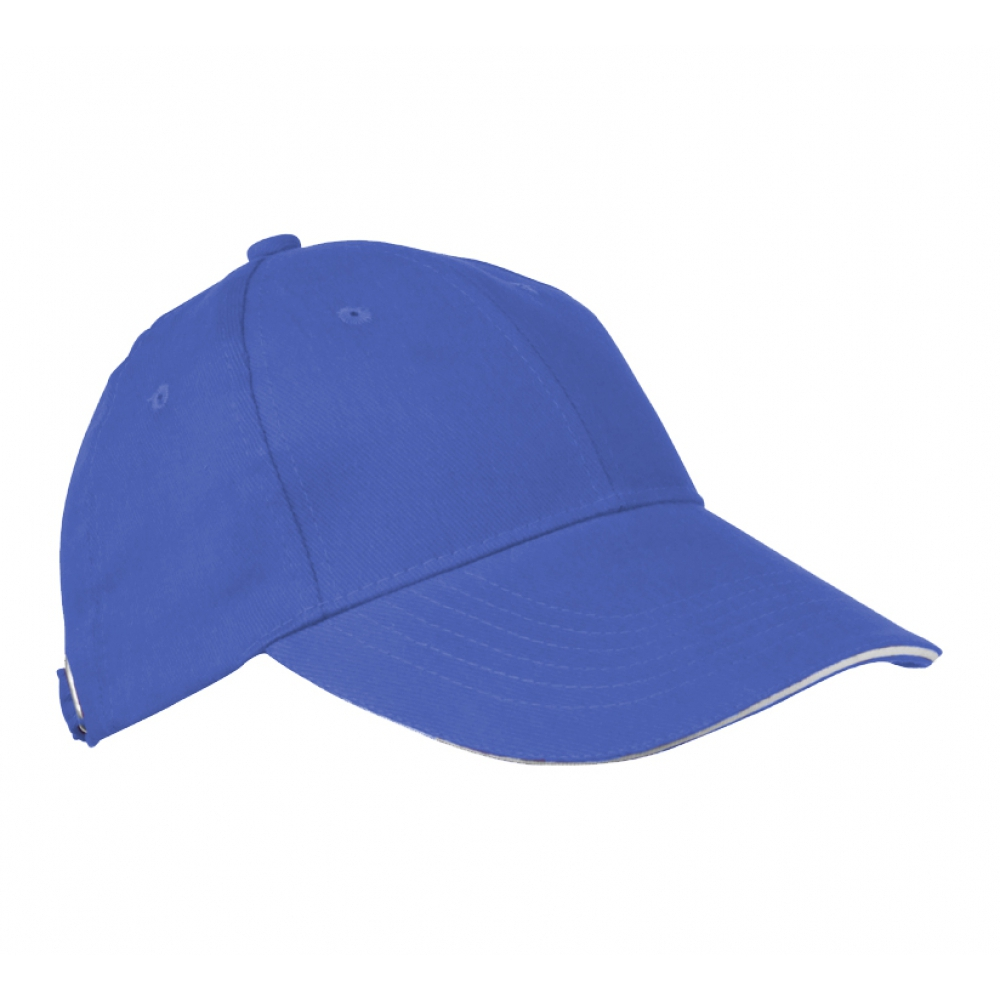 6-panel sandwich baseball cap