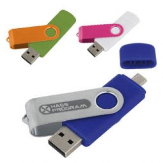 USB-Stick aus Metall und Plastik OTG